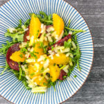 Beets Orange and Arugula in a Salad Bowl