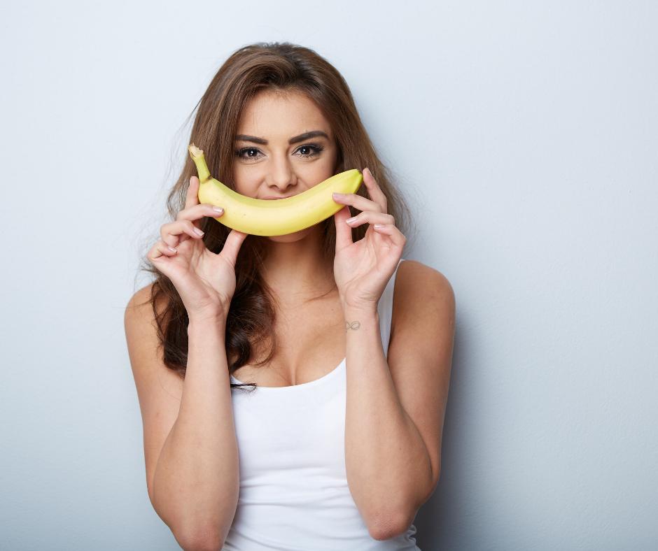 Smiling with Banana - Skin Healthy Food