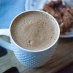 Pumpkin Spice Soy Latte with Coffee Cake