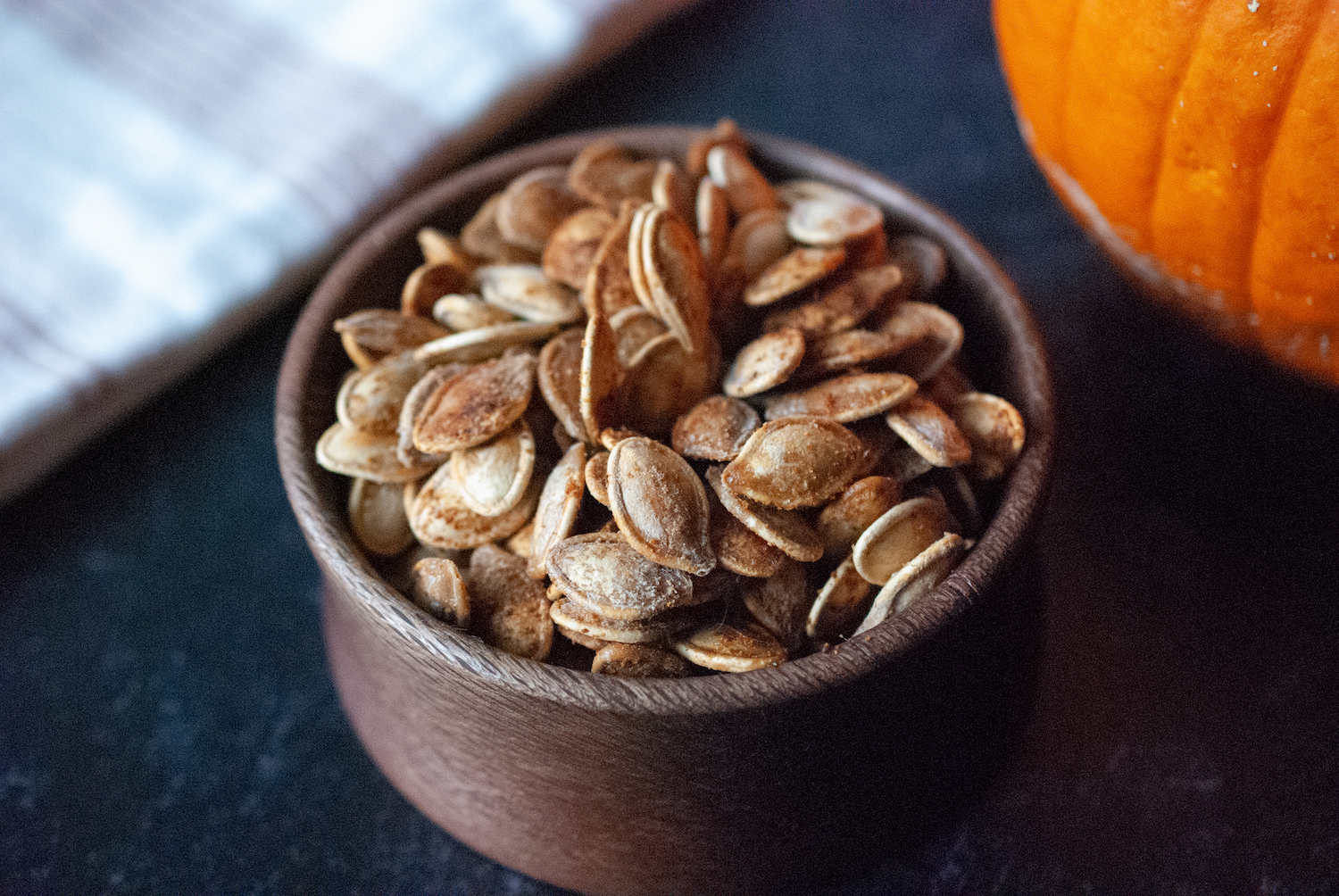 Best Baked Pumpkin Seeds in a Wooden Bowl
